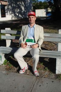 Channeling Forrest Gump at a 5K in 2011
